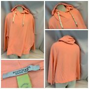 Scotch And Soda Maison Scott Hoodie Pullover S/m Pink Poly Cotton Ygi B1-160