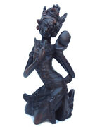 Balinese Wood Carving Figure Scupture Bali Indonesia Hand Carved Statue Goddess