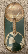 Vintage 1939-1940 Coca Cola Sign Silhouette Girl Thermometer Robertson 16x6 3/4andrdquo