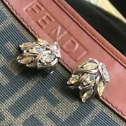 Vintage 60andrsquos Crystal Clip-on Earrings Costume Jewelry Coro Trifari Crown