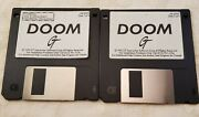 Vintage 1993 Doom Pc Computer Game 3.5 Floppy Disks 1and2 Gt Interactive