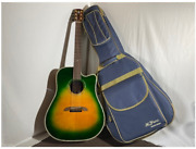Rare K. Yairi Dy-70ce Gb Green Burst Electric Acoustic Guitar Shipped From Japan