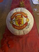 Offical Manchester United Football Signed By The 1999 Triple Wining Team.