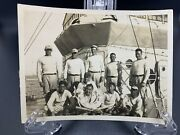 Original 1930andrsquos Uss Barker Lst Baseball Team With Bats And Uniforms -one Of A Kind