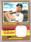 Cody Bellinger Dodgers 2020 Topps Heritage High Number Jersey Relic Ccrcb 67/99