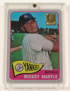 1965 Topps Mickey Mantle Finders Series Metal Hobby Editions /50 Baseball Card