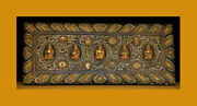@wonderful Old Tibet Buddhism Carved Painted Wooden Buddha Statue Sutra Cover@