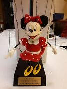 Disney 1st Edition Bob Baker Mini Minnie Mouse In The Park Marionette Doll 1955