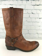Frye Carson Womens Brown Leather Harness Boots Size 10b