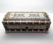 Victorian Anglo Indian Antique Vizagapatam Trinket Jewelry Mirror Box Casket