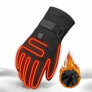 Electric Heated Gloves Three Gear Thermostat Heating Skiing Winter Outdoor Sport