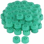200pcs Right Hand Green Plastic Speed Knob For Electric Guitar White Number