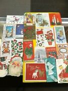 Lot 150+ Plus Vintage Christmas Cards Santa Holiday Cute Tree Candle 1940- 60and039s