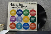 Various Remember How Great... Volume 2 Columbia Record Productions Lp 1962
