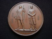British National Rifle Association Engraved 1895 Award Medal To Corp. P. Care