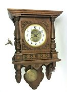Vintage Used Wood Wooden Modern Movement Wall Hanging Clock Parts