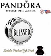 New Authentic Pandora S925 Ale Sterling Silver Blessed Bead Bracelet Charm
