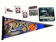 Philadelphia Teams Swag 76ers Pennant And Decals Eagles Mousepad And Postvard Etc