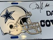 Dallas Cowboys, Vikings And Dolphinshill Autographed Vanity Team License Plates