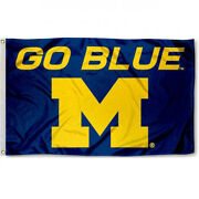 Michigan Wolverines Go Blue College Banner 3x5ft Flag Man Cave