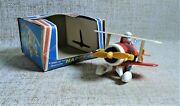 Happy Plane Nib A Wind Up Toy Whistling Ananiadis Made In Greece Greek Vtg Aa