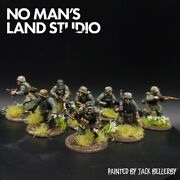 Pro Painted 28mm Bolt Action Panzer Grenadier Squad ×8 Ww2 Warlord Games