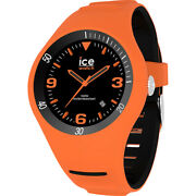 Ice Pierre Leclercq Black Stainless Steel And Silicone Strap Men's Watch. 017601