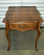 Ethan Allen Country French Lamp End Table Birch 26-8303 236 Fruitwood 1988