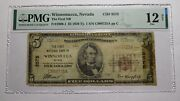 5 1929 Winnemucca Nevada Nv National Currency Bank Note Bill Ch. 3575 F12 Pmg