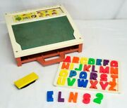 Vintage 1972 Fisher Price School Days Play Desk 176 W Magnetic Letters And Tray