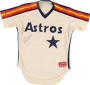 1980s Phil Garner Houston Astros Game Worn And Signed Jersey