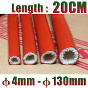 20cm Red Silicone Fiberglass Cable Sleeve Tube Andphi4-80mm High Temp Insulating Hose
