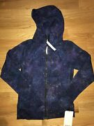 Nwt Lululemon Scuba Hoodie Iv Jacket Layer Sz 6 Polar Lights Blue Plbm Galaxy