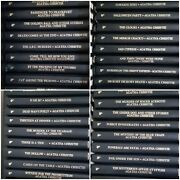 42 Agatha Christie Mystery Collection Euc Some New Black Leatherette Books