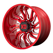 22x12 Xd Series Xd858 Tension Candy Red Milled Wheel 6x5.5 -44mm Set Of 4