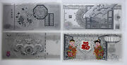 2015-2018 China Greeting New Chinese Lunar Year 4 X 5 Grams Of Silver