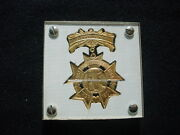 1901 Illinois State Fair Volunteers Day Commemorative Medal In Lucite Holder