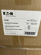 Lot Of 250 Eaton 1-gang White Single Toggle Wall Plate Pj1w Mid Size New