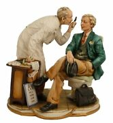 Authentic Capodimonte Porcelain Figures 'eye Doctor','optometrist' Made In Italy