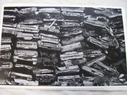 1950 And039s 1960 And039s Cars Crushed And Stacked In Junk Yard 11 X 17 Photo / Picture
