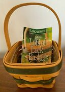 Longaberger Lots Of Luck Basket 18465 And Protector New