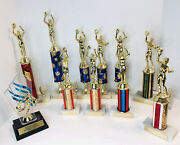 11 Vintage 1990s Basketball Trophy Trophies Award Marble Bottoms Holographic