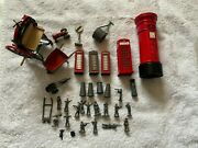 Diecast Toy Collection Garden Bits,telephone Boxes , Mangle, Soldiers Etc