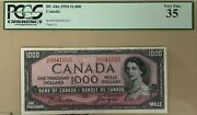 1954 Bank Of Canada 1000 Banknote Pcgs Very Fine 35 - Catbc-44a - Sale