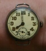 Antique 1918 Trench Silver Wrist Watch George Stockwell Birmingham Collectible