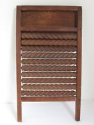 Antique Wood Carved Washboard With Twisted And Moveable Rungs The Best