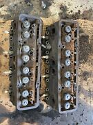 1969 Chevy Chevrolet 307 Cylinder Heads Pair B047