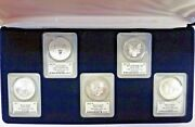 2011 Silver Eagle 25th Anniversary 5 Coin Set Mercanti Signature Pcgs 70