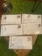 British Film Stars First Day Covers Chaplin Sellers Hitchock Niven Leigh 1986