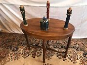 Antique Oval Radio End Table